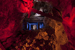 Colorful Gold Mine Tunnel stock photos