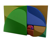 Colorful golden ratio icon. 3d illustration of colorful golden ratio icon Stock Photos