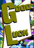 Colorful Good luck background Stock Photography