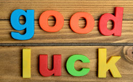Colorful Good luck word Stock Photo