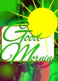 Colorful Good morning background Royalty Free Stock Images