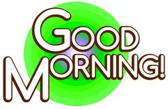 Colorful Good morning background Stock Images