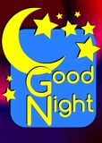 Colorful Good night illustration Stock Photos