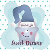 Good night and sweet dreams illustration vector design. Colorful good night and sweet dreams illustration vector design Royalty Free Stock Image