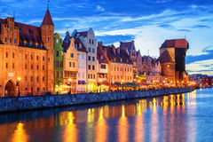 Colorful gothic facades in the old town of Gdansk, Poland Royalty Free Stock Images