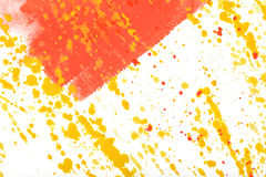 Colorful gouache sprays and splashes on a white background. Royalty Free Stock Photos