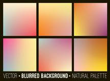 Colorful gradient abstract backgrounds se Royalty Free Stock Photo