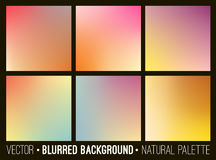 Colorful gradient abstract backgrounds set. Smooth template design for creative decor of covers, banners and websites. Stock Photos