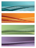Colorful gradient banners Royalty Free Stock Photography