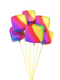 Colorful Gradient cubes Balloons Royalty Free Stock Image