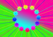 Colorful Gradient Flower Circle Background Stock Photography