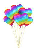 Colorful Gradient Heart Balloons Stock Image