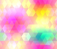 Colorful gradient hexagonal background in bright rainbow colors. Abstract blurred image. Stock Photo