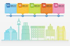 Cityscape infographic template Royalty Free Stock Photos