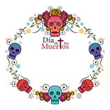 Day of the Dead Skull Frame Royalty Free Stock Photo
