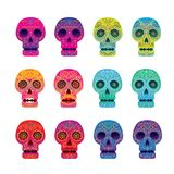 Day of the Dead Skull Set Royalty Free Stock Image