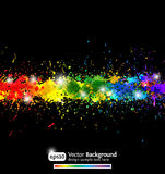 Colorful gradient paint splashes Stock Photo