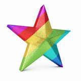 Colorful Gradient Star. 3d render Colorful Gradient Star ( on white and clipping path Royalty Free Stock Photos
