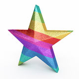 Colorful Gradient Star. 3d render Colorful Gradient Star ( on white and clipping path Stock Photos