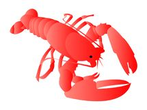 Red lobster cartoon illustration Royalty Free Stock Photography