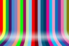 Colorful graduating. Rainbow line background Stock Photography