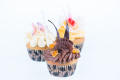 Colorful graduation cupcakes Royalty Free Stock Photography