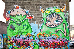 Colorful graffiti. In downtown Reykjavik, Iceland Stock Photography