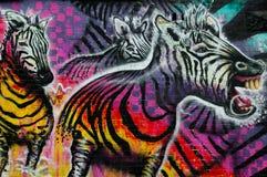 Colorful graffiti artwork as street art in Melbourne, Australia Royalty Free Stock Image