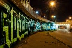 Colorful graffiti. In auto tunnel, Timisoara, Romania Stock Photos