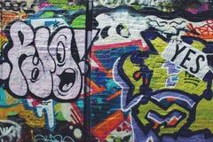 Colorful Graffiti in Boston Royalty Free Stock Photo