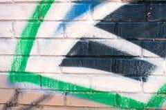 Colorful Graffiti on Brick Wall Royalty Free Stock Photography