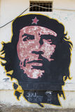 Colorful graffiti of Che Guevara on a wall in Pampatar, Venezuel Stock Photos