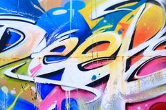 Colorful graffiti Stock Images