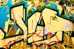 Colorful Graffiti Stock Photo