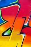 Colorful graffiti fragment Stock Photography