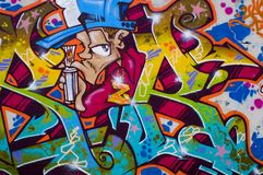 Colorful Graffiti with heaven and clouds Royalty Free Stock Photo