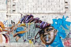 Colorful graffiti, Rosario, Argentina Royalty Free Stock Images