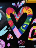 Grafitti Wall. Colorful graffiti street art painting on a wall in Brooklyn New York royalty free stock photography