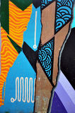 Colorful graffiti wall Stock Image