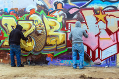 Colorful graffiti on a wall Royalty Free Stock Images