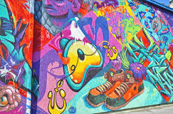 Colorful graffiti Stock Image