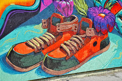 Colorful graffiti stock photos