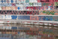 Colorful graffiti wall Royalty Free Stock Images