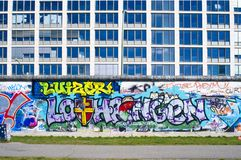 Colorful Graffity in Berlin 2015 Royalty Free Stock Photo