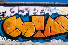 Colorful Graffity in Berlin 2015 Royalty Free Stock Image