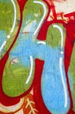 Colorful Graffity with letter H Stock Images
