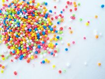 Colorful grains on white background Royalty Free Stock Image