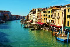 Colorful Grand Canal, Venice, Italy, Europe Stock Photography