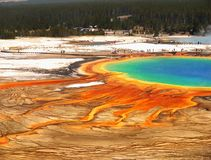 Colorful Grand Prismatic Hot Spring, Yellowstone stock photos