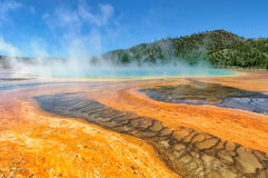 Colorful of Grand Prismatic Spring in Yellowstone, Wyoming Royalty Free Stock Photos